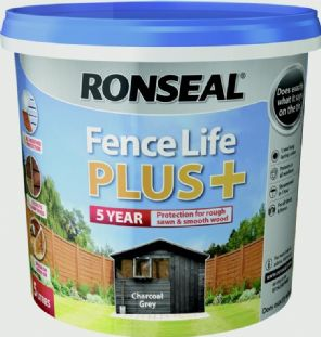 Ronseal Fence Life Plus 5L - Charcoal Grey.